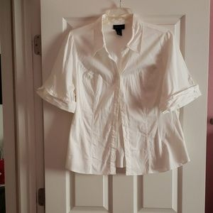 Lane Bryant white blouse.
